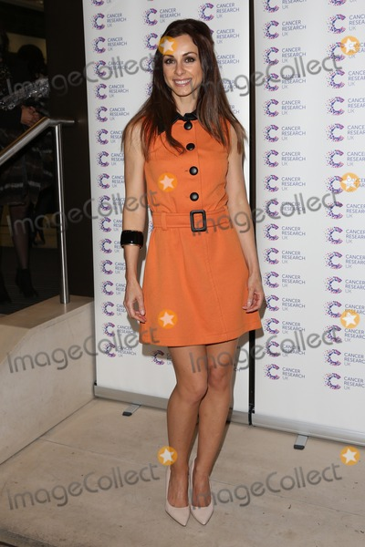 Lindsay Armaou Photo - Lindsay Armaou arriving at James' Jog On To Cancer Event, Kensington Roof Gardens, London. 09/04/2014 Picture by: Henry Harris / Featureflash