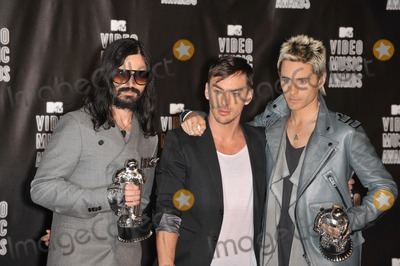 30 Seconds to Mars, Jared Leto, Shannon Leto, Tomo Milicevic Photo - 30 Seconds to Mars - Tomo Milicevic, Jared Leto & Shannon Leto - at the 2010 MTV Video Music Awards at the Nokia Theatre L.A. Live in downtown Los Angeles.September 12, 2010  Los Angeles, CAPicture: Paul Smith / Featureflash