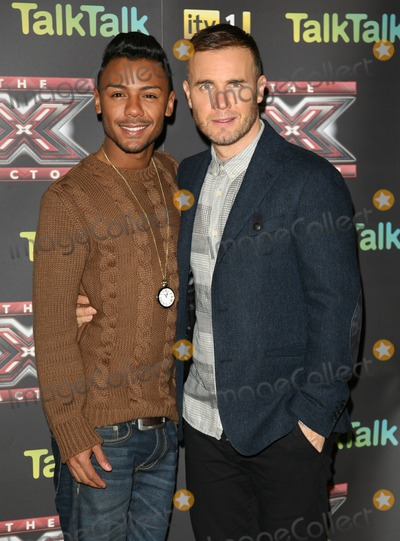 Gary Barlow, Marcus Collins Photo - Marcus Collins and Gary Barlow attending an X Factor Finalists Photocall, at Wembley Arena, London. 08/12/2011 Picture by: Alexandra Glen / Featureflash