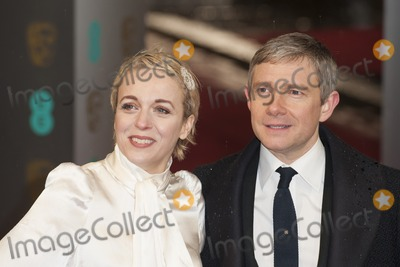 Amanda Abbington, Martin Freeman, Covent Garden Photo - Amanda Abbington and Martin Freeman arriving for the EE BAFTA Film Awards 2013 at the Royal Opera House, Covent Garden, London. 10/02/2013 Picture by: Simon Burchell / Featureflash