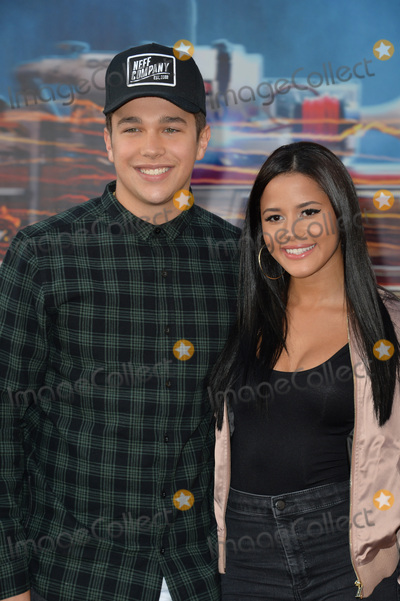 "Austin Mahone, Austine Mahone, TCL Chinese Theatre, Katya Henry Photo - LOS ANGELES, CA. July 9, 2016: Singer Austin Mahone & girlfriend Katya Henry at the Los Angeles premiere of ""Ghostbusters"" at the TCL Chinese Theatre, Hollywood.