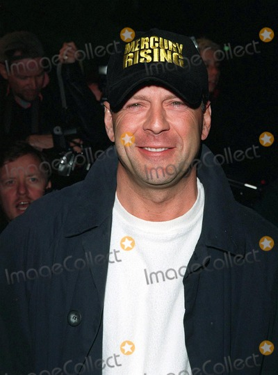 """Bruce Willis Photo - 01APR98:  Actor BRUCE WILLIS at the premiere of his new movie, """"Mercury Rising,"""" at the Academy Theatre in Beverly Hills."""