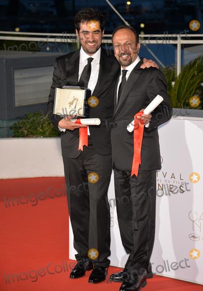 Asghar Farhadi, Shahab Hosseini Photo - Shahab Hosseini, winner of Best Actor & director Asghar Farhadi, winner for Best Screenplay for 'The Salesman (Forushande)', at the winners' photocall at the 69th Festival de Cannes.May 22, 2016  Cannes, FrancePicture: Paul Smith / Featureflash
