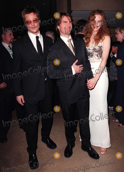 Brad Pitt, John Huston, Nicole Kidman, Tom Cruise, The Artist Photo - 17APR98:  Actors BRAD PITT (left) & TOM CRUISE & actress wife NICOLE KIDMAN at the Beverly Hilton Hotel where Cruise was honored with the 1998 John Huston Award by the Artists Rights Foundation.