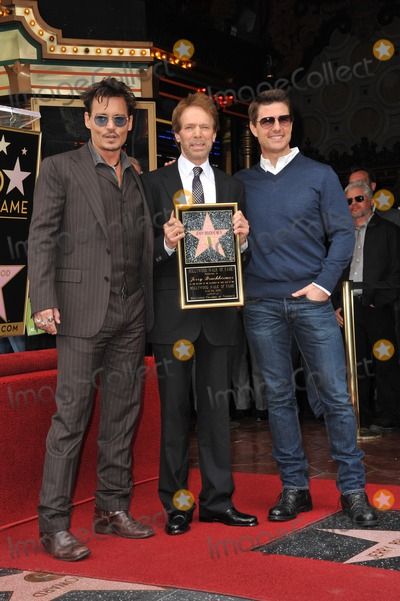 Jerry Bruckheimer, Johnny Depp, Tom Cruise Photo - Jerry Bruckheimer with Johnny Depp & Tom Cruise on Hollywood Blvd where producer Jerry Bruckheimer was honored with the 2,501st star on the Hollywood Walk of Fame. June 24, 2013 Los Angeles, CA Picture: Paul Smith / Featureflash