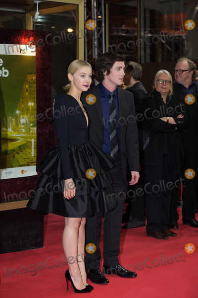 "Logan Lerman, Sarah Gadon Photo - Sarah Gadon & Logan Lerman  at the premiere of ""Indignation"" at the 2016 Berlin Film Festival.February 14, 2016  Picture: Kristina Afanasyeva / Featureflash"