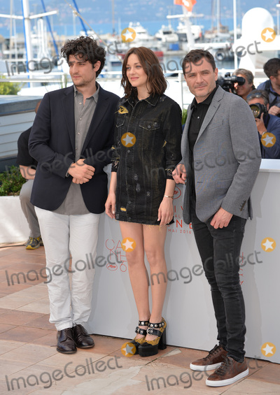 """Louis Garrel, Marion Cotillard, Alex Brendemuhl Photo - Actors Marion Cotillard, Louis Garrel & Alex Brendemuhl at the photocall for """"From the Land of the Moon"""" (""""Mal de Pierres"""") at the 69th Festival de Cannes.May 15, 2016  Cannes, FrancePicture: Paul Smith / Featureflash"""