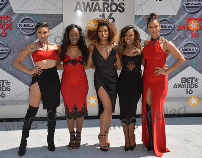 June's Diary, Ashly Williams Photo - LOS ANGELES, CA. June 26, 2016: Girl group June's Diary - Ashly Williams, Brienna DeVlugt, Gabrielle Carreiro, Kristal Lyndriette, & Shyann Roberts - at the 2016 BET Awards at the Microsoft Theatre LA Live. 