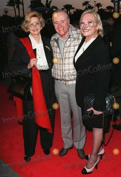 """Barbara Sinatra, Jack Lemmon, Jackée Photo - 06APR98:  Actor JACK LEMMON & wife FELICIA (right) with Mrs BARBARA SINATRA at the premiere of his new movie, """"The Odd Couple II,"""" in Hollywood."""