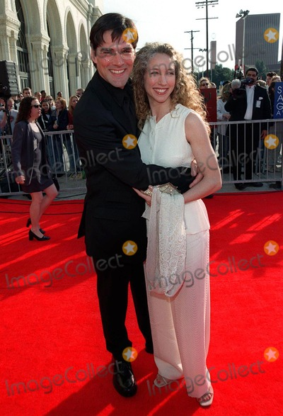 "Thomas Gibson Photo - 08MAR98:  ""Dharma & Greg"" star THOMAS GIBSON & wife at the Screen Actors Guild Awards in Los Angeles."