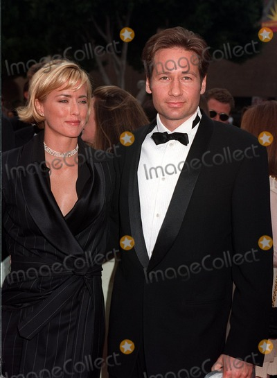 David Duchovny, Tea Leoni Photo - 14SEP97:  DAVID DUCHOVNY & wife TEA LEONI at the Emmy Awards in Pasadena.