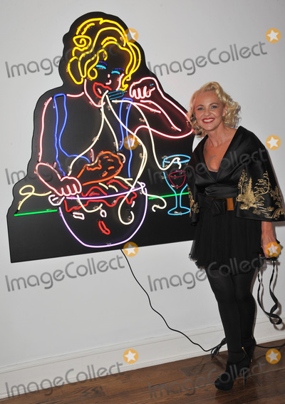 "Amanda Eliasch Photo - Amanda Eliasch at reception for her neon art exhibition ""Peccadilloes"" at the Leadapron Gallery, West Hollywood.