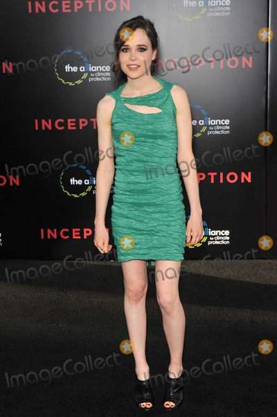 """Ellen Page, Grauman's Chinese Theatre Photo - Ellen Page at the Los Angeles premiere of her new movie """"Inception"""" at Grauman's Chinese Theatre, Hollywood.July 13, 2010  Los Angeles, CAPicture: Paul Smith / Featureflash"""
