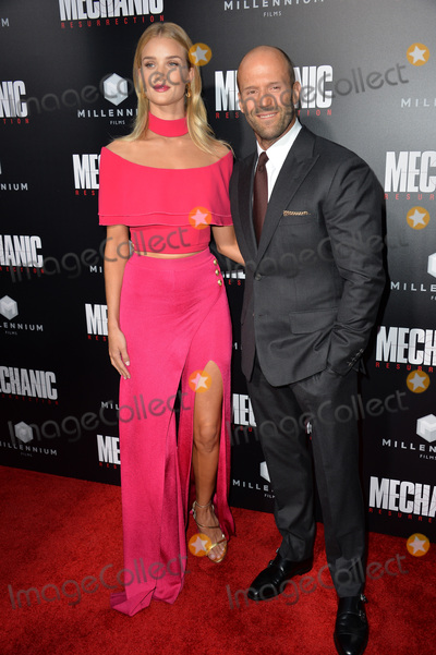"""Jason Statham, Rosie Huntington, Rosie Huntington Whiteley, Rosie Huntington-Whiteley Photo - LOS ANGELES, CA. August 22, 2016: Actor Jason Statham & girlfriend actress/model Rosie Huntington-Whiteley at the Los Angeles premiere of """"Mechanic: Resurrection"""" at the Arclight Theatre, Hollywood.Picture: Paul Smith / Featureflash"""
