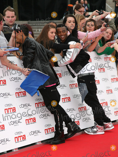 JLS, The National Photo - Aston and Oritse from JLS arriving for the National Movie Awards 2011, at Wembley Arena, London. 11/05/2011  Picture By: Alexandra Glen / Featureflash