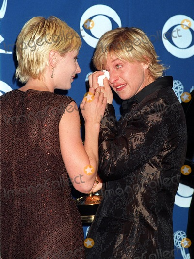 Anne Heche, Lover, Ann Heche Photo - 14SEP97:  A tearful ELLEN DEGENARES (right) is comforted by her lover, actress ANNE HECHE, at the Emmy Awards in Pasadena.