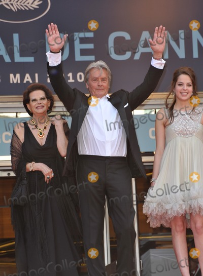 "Alain Delon, Anouchka Delon, Claudia Cardinale Photo - Claudia Cardinale, Alain Delon & Anouchka Delon at the premiere screening of ""Wall Street: Money Never Sleeps"" at the 63rd Festival de Cannes.
