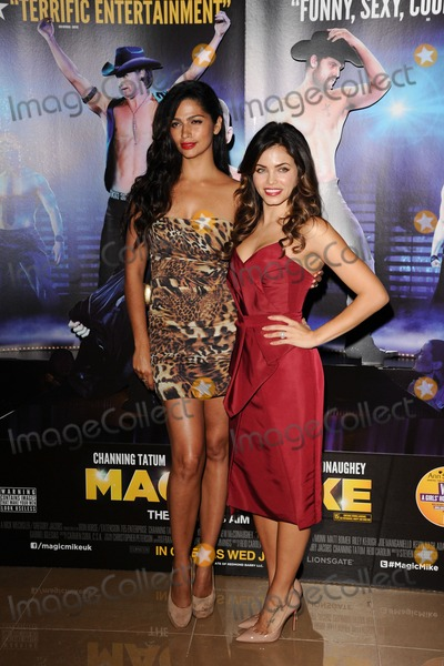 "Jenna Dewas, Camila Alves Photo - Camila Alves and Jenna Dewas arriving for the ""Magic Mike"" premiere at the Mayfair Hotel, London. 10/07/2012 Picture by: Steve Vas / Featureflash"