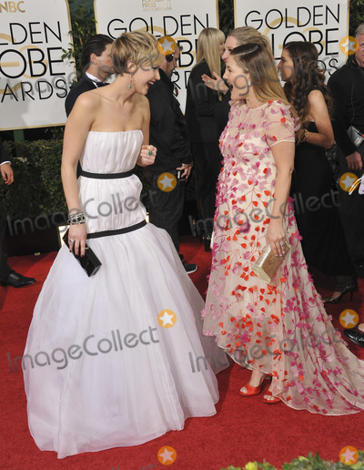 Drew Barrymore, Jennifer Lawrence Photo - Jennifer Lawrence & Drew Barrymore (right) at the 71st Annual Golden Globe Awards at the Beverly Hilton Hotel.January 12, 2014  Beverly Hills, CAPicture: Paul Smith / Featureflash