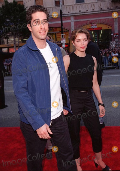 "David Schwimmer Photo - 15MAR98:  ""Friends"" star DAVID SCHWIMMER & actress girlfriend MILI AVATAR at 20th anniversary re-premiere of ""Grease"" at Mann's Chinese Theatre, Hollywood."