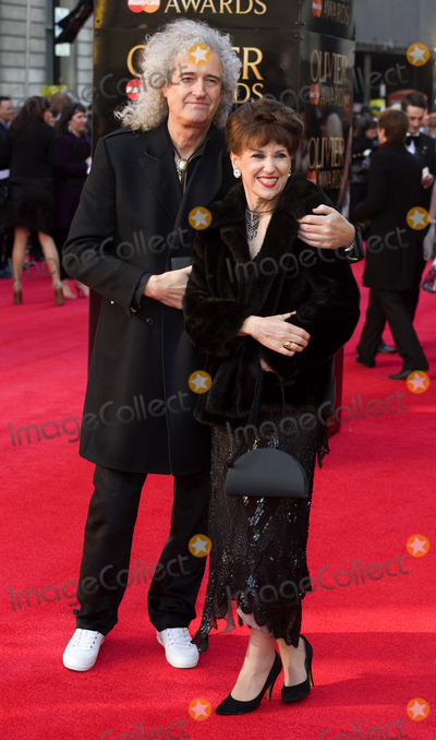 Anita Dobson, Brian May Photo - Brian May and Anita Dobson arrives for the Olivier Awards 2012 at the Royal Opera House, Covent Garden, London. 15/04/2012 Picture by: Simon Burchell / Featureflash