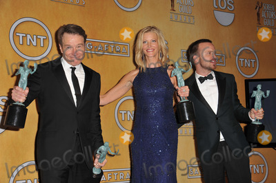 Aaron Paul, Anna Gunn, Bryan Cranston, Anna Maria Perez de Taglé Photo - Bryan Cranston, Anna Gunn & Aaron Paul at the 20th Annual Screen Actors Guild Awards at the Shrine Auditorium.January 18, 2014  Los Angeles, CAPicture: Paul Smith / Featureflash