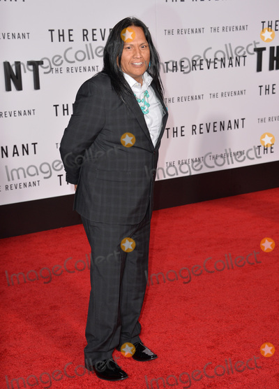 """Arthur Redcloud, TCL Chinese Theatre Photo - Actor Arthur Redcloud at the Los Angeles premiere of his movie """"The Revenant"""" at the TCL Chinese Theatre, Hollywood. December 16, 2015  Los Angeles, CAPicture: Paul Smith / Featureflash"""
