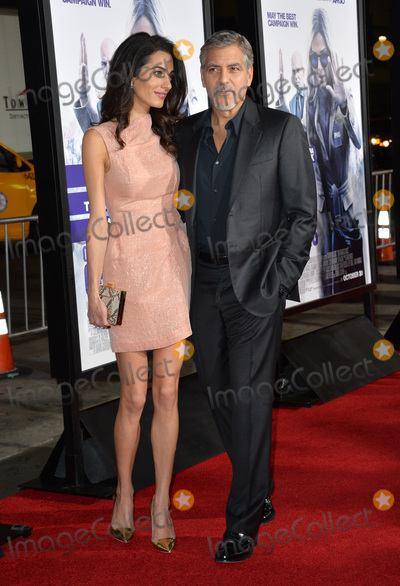 """George Clooney, TCL Chinese Theatre, Amal Alamuddin Photo - Producer George Clooney & wife Amal Alamuddin at the Los Angeles premiere of his movie """"Our Brand is Crisis"""" at the TCL Chinese Theatre, Hollywood.October 26, 2015  Los Angeles, CAPicture: Paul Smith / Featureflash"""