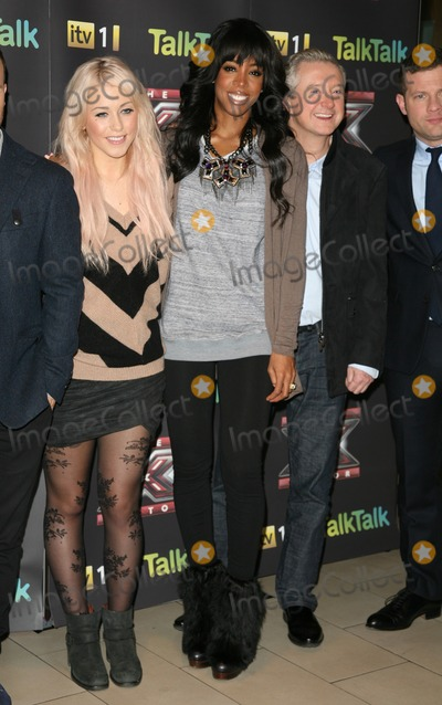 Kelly Rowland, Amelia Lily, Louis Walsh, Kelly Rowlands Photo - Kelly Rowland, Amelia Lily and Louis Walsh attending an X Factor Finalists Photocall, at Wembley Arena, London. 08/12/2011 Picture by: Alexandra Glen / Featureflash