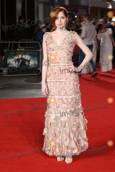 """Ellie Bamber, James Smith, Leicester Square Photo - Ellie Bamber at the European premiere for """"Pride and Prejudice and Zombies"""" at the Vue West End, Leicester Square.February 1, 2016  London, UKPicture: James Smith / Featureflash"""