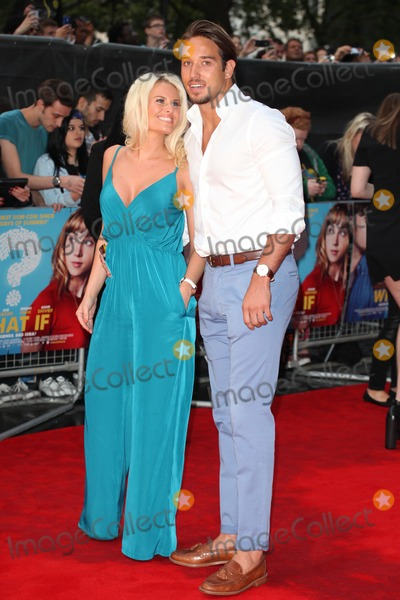 Danielle Armstrong, Daniele Armstrong, James Locke, Daniel Armstrong, James Lock Photo - Danielle Armstrong and James Lock arriving at the What If Premiere, at Odeon West End, London. 12/08/2014 Picture by: Alexandra Glen / Featureflash