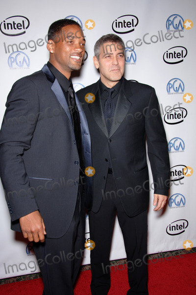 George Clooney, George Smith, Will Smith Photo - WILL SMITH (left) & GEORGE CLOONEY at the 2006 Producers Guild Awards at the Universal Hilton Hotel.January 22, 2006  Los Angeles, CA 2006 Paul Smith / Featureflash