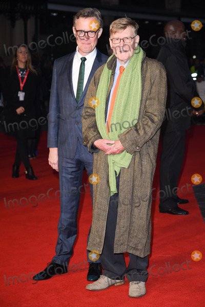 "Alan Bennett, Alex Jenning, Alex Jennings, Leicester Square Photo - Alex Jennings & writer Alan Bennett at the UK premiere of ""The Lady in the Van"", part of the London Film Festival 2015, at the Odeon Leicester Square, London.