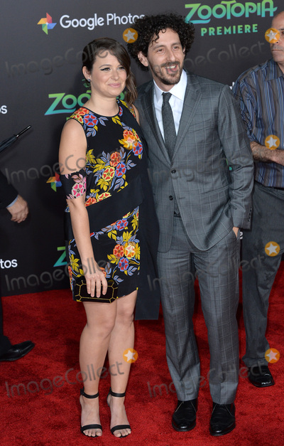 """Adam Shapiro, Katie Lowes, Katies Lowes Photo - Actress Katie Lowes & husband actor Adam Shapiro at the premiere of Disney's """"Zootopia"""" at the El Capitan Theatre, Hollywood.February 17, 2016  Los Angeles, CAPicture: Paul Smith / Featureflash"""