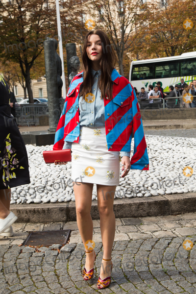 Anya Taylor-Joy, Front Row Photo - Anya Taylor-Joy attend Miu Miu Show Front Row - Paris Fashion Week  2016.October 7, 2015 Paris, FrancePicture: Kristina Afanasyeva / Featureflash