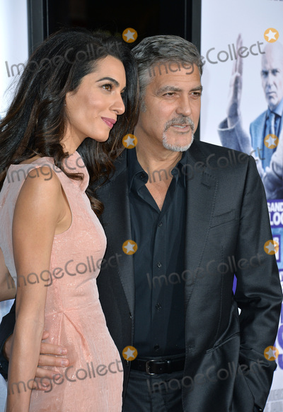 "George Clooney, TCL Chinese Theatre, Amal Alamuddin Photo - Producer George Clooney & wife Amal Alamuddin at the Los Angeles premiere of his movie ""Our Brand is Crisis"" at the TCL Chinese Theatre, Hollywood.