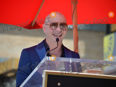 Pitbull Photo - LOS ANGELES, CA. July 15, 2016: Singer Pitbull (Armando Christian Perez) on Hollywood Blvd where he was honored with the 2,584th star on the Hollywood Walk of Fame.