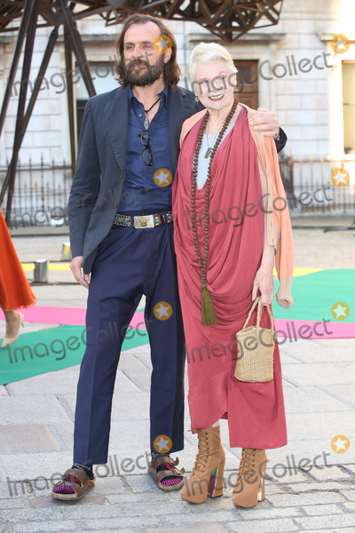 Andreas Kronthaler, Vivienne Westwood, James Smith Photo - Andreas Kronthaler & Vivienne Westwood  at the Royal Academy of Arts Summer Exhibition 2015 at the Royal Academy, London. June 3, 2015  London, UKPicture: James Smith / Featureflash