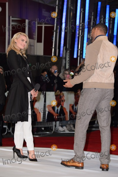 "Will Smith, Margot Robbie, Leicester Square Photo - Margot Robbie and Will Smith arrives for the ""Focus"" screening at the Vue Cinema Leicester Square, London. 11/02/2015 Picture by: Steve Vas / Featureflash"