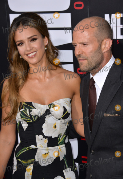 """Jason Statham, Jessica Alba, Jessica Paré Photo - LOS ANGELES, CA. August 22, 2016: Actors Jessica Alba & Jason Statham at the Los Angeles premiere of """"Mechanic: Resurrection"""" at the Arclight Theatre, Hollywood.Picture: Paul Smith / Featureflash"""