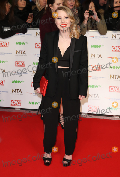 Charlotte Beaumont, James Smith, The National Photo - Charlotte Beaumont at The National Television Awards 2016 (NTA's) held at the O2 Arena, London. January 20, 2016  London, UKPicture: James Smith / Featureflash