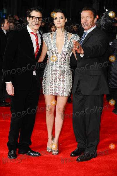 """Arnold Schwarzenegger, Jaimie Alexander, Johnny Knoxville, Alexander Arnold Photo - Johnny Knoxville, Jaimie Alexander and Arnold Schwarzenegger arriving for premiere of """"The Last Stand"""" at the Odeon West End, Leicester Square, London. 22/01/2013 Picture by: Steve Vas / Featureflash"""