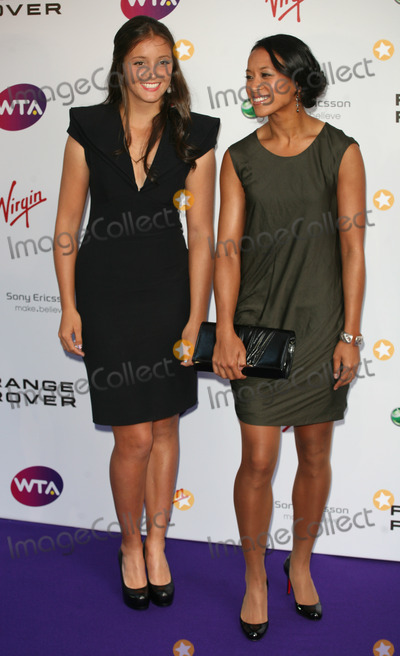 Laura Robson, Anne Keothavong Photo - Laura Robson and Anne Keothavong arriving for the Pre Wimbledon Party, Kensington Roof Gardens, London. 16/07/2011  Picture by: Alexandra Glen / Featureflash
