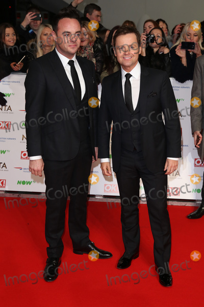 Ant & Dec, Declan Donnelly, James Smith Photo - Anthony McPartlin & Declan Donnelly at The National Television Awards 2016 (NTA's) held at the O2 Arena, London. January 20, 2016  London, UKPicture: James Smith / Featureflash