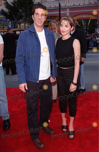 """David Schwimmer Photo - 15MAR98:  """"Friends"""" star DAVID SCHWIMMER & actress girlfriend MILI AVATAR at 20th anniversary re-premiere of """"Grease"""" at Mann's Chinese Theatre, Hollywood."""