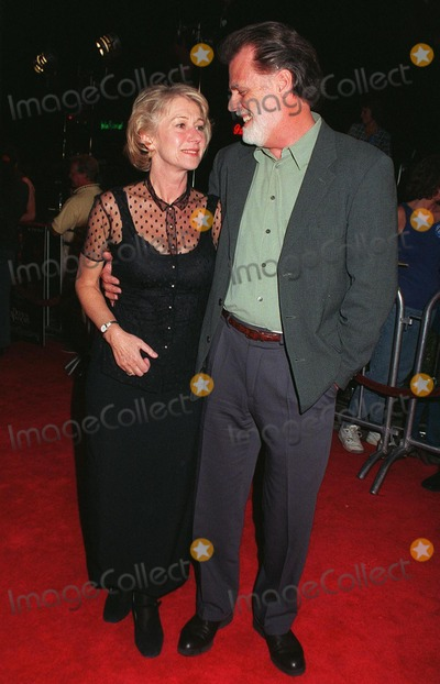 """Helen Mirren, Taylor Hackford Photo - 13OCT97: Actress HELEN MIRREN & husband, director TAYLOR HACKFORD at the world premiere of his new movie, """"Devil's Advocate."""""""