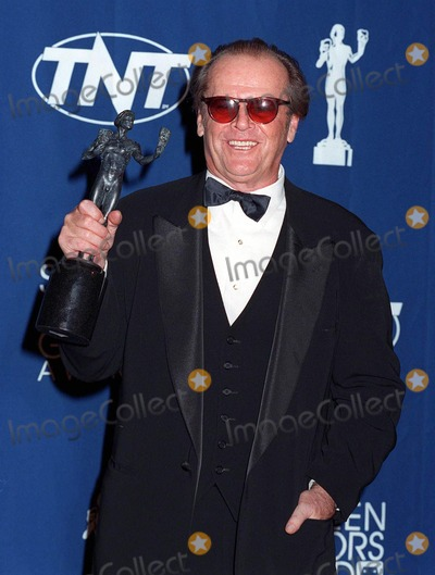 """Jack Nicholson, Jackée Photo - 08MAR98:  Actor JACK NICHOLSON at the Screen Actors Guild Awards in Los Angeles. He won the Best Actor award for """"As Good As It Gets."""""""