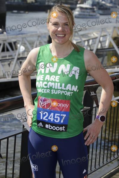 Anna Watkins Photo - Anna Watkins at the photocall for celebs running the 2014 London Marathon, London. 09/04/2014 Picture by: Steve Vas / Featureflash
