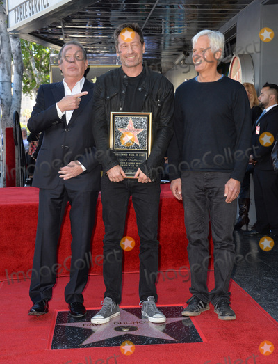 Chris Carter, David Duchovny, Gary Shandling Photo - Actor David Duchovny with Gary Shandling & Chris Carter on Hollywood Boulevard where he was honored with the 2,572nd star on the Hollywood Walk of Fame.January 25, 2016  Los Angeles, CAPicture: Paul Smith / Featureflash