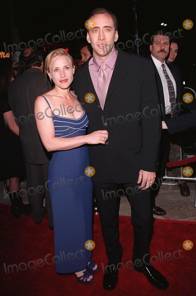 """Meg Ryan, Nicolas Cage, Patricia Arquette, Nicolas Cazalé Photo - 08APR98:  Actor NICOLAS CAGE & actress wife PATRICIA ARQUETTE at the world premiere of his new movie, """"City of Angels,"""" in which he stars with Meg Ryan."""